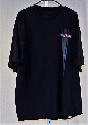 RCR Childress Team Issued Race Worn Racing Stripe T-shirt. SIZE 2XL