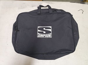 Simpson 'S' logo racing suit case. Race used.