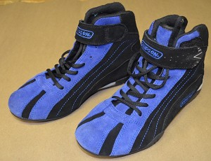 Simpson SFI Driver Shoes. Race Used by Jason Leffler. Size 7.5 US