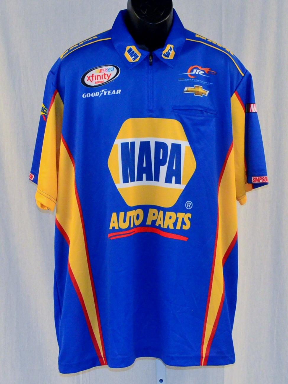 2015 Chase Elliott NAPA Jr Motorsports NEW!! NASCAR Pit Crew Shirt: https://www.raceimage.com/2015-Chase-Elliott-NAPA-Jr-Motorsports...