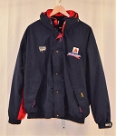 Vintage Roush Racing Citgo Jeff Burton Team Issue GORTEX Coat. NASCAR DK Blue XL