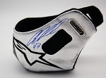Aric Almirola Richard Petty Motorsports Race Used Alpinestars Heat Shield #1. SIGNED