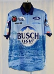 #32 Kevin Harvick 2019 Busch Light Mobil 1 NASCAR Pit Crew Shirt. NEW! Sz LARGE